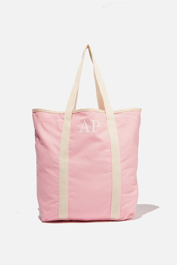 Personalised Canvas Tote Bag, TICKLE PINK