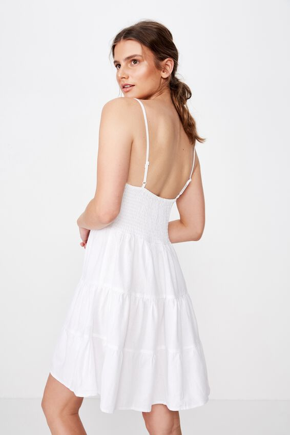 Sunlover Slip Dress, WHITE