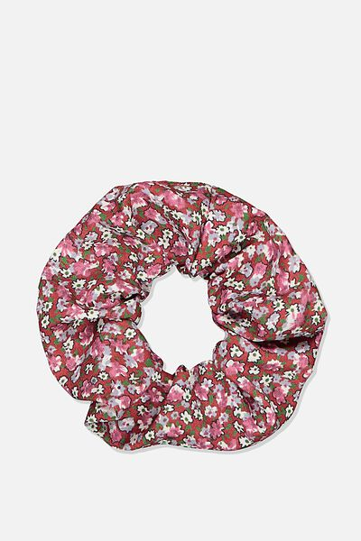 Ditsy Floral Cluster Scrunchie, DITSY CLUSTER BERRY