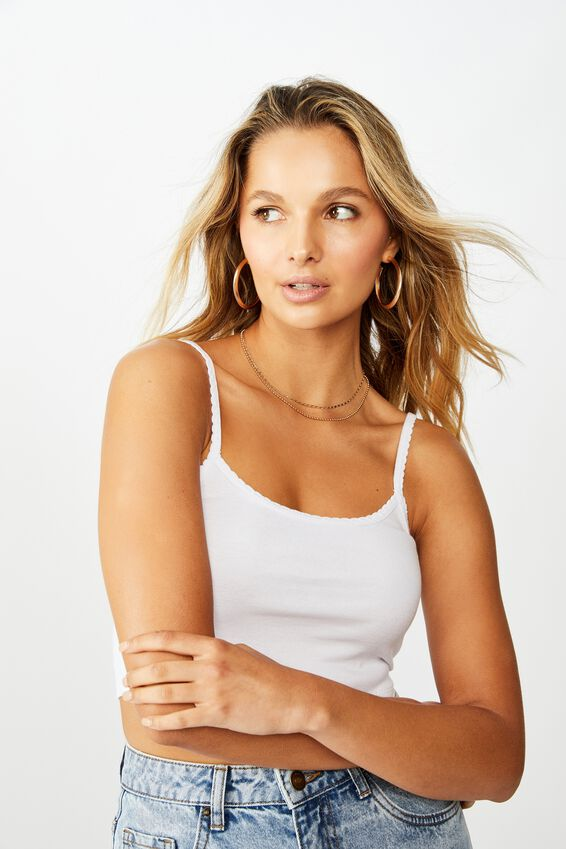 Ruth Crop Cami, WHITE