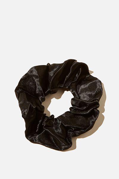 Lux Satin  Scrunchie, BLACK