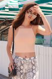 Party High Neck Crop, CHAMPAGNE PEACH