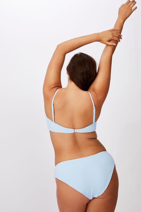 Noosa Seamless Bikini  Bottom, POWDER BLUE CRINKLE