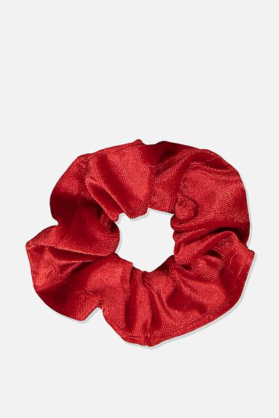 Scrunchie, PLUSH TRUE RED
