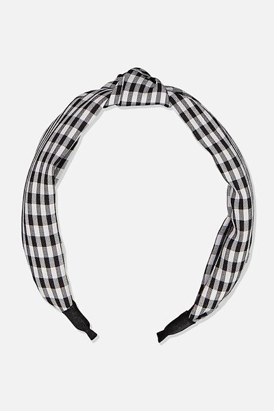 Knotted Headband, GINGHAM