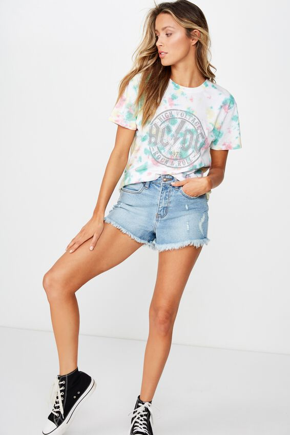 The Kendall Graphic Tee, MULTI TIE DYE/ACDC