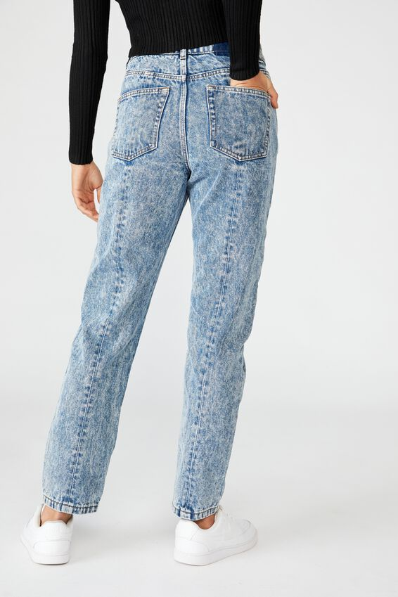 The Mom Denim Jean, INDIGO STATIC