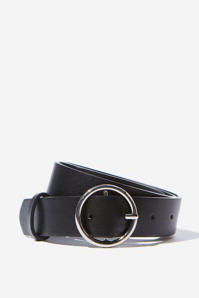Mini Circle Belt, BLACK