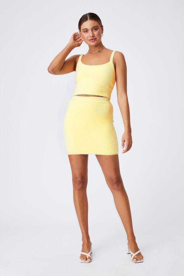 Melissa Fluffy Skirt Co Ord, DOUBLE CREAM