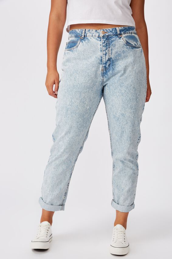 The Mom Denim Jean, ICY BLUE