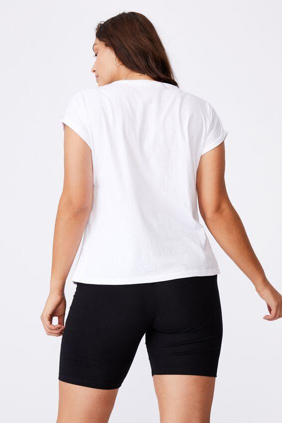 Kaya Crew Neck T Shirt, WHITE