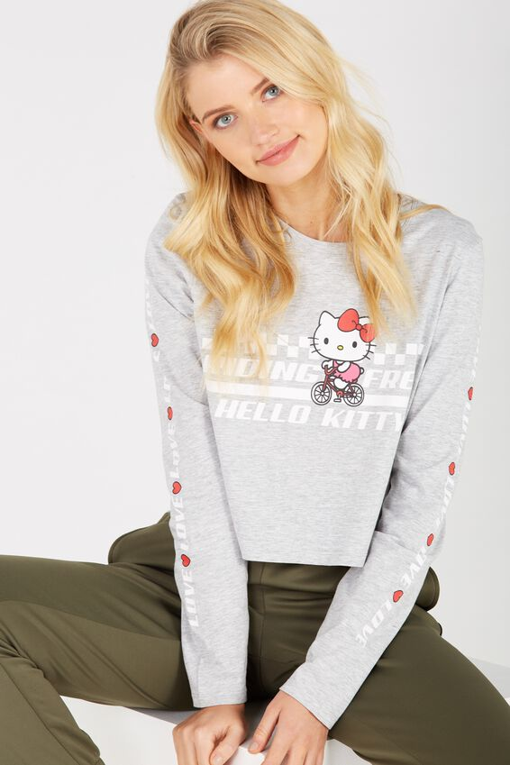 d0a3add74 Shoptagr | Hello Kitty Printed Long Sleeve Crop by Supre