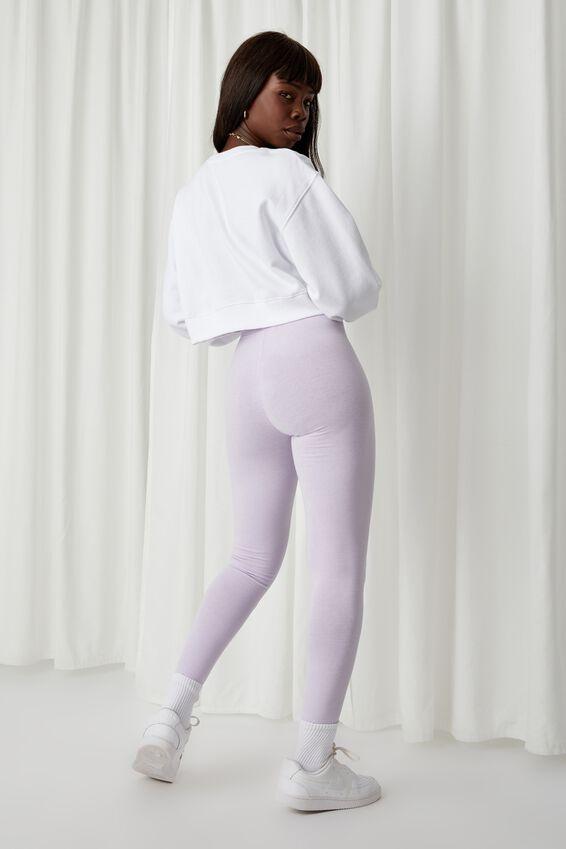 Basic Full Length Leggings, FAIRY LILAC