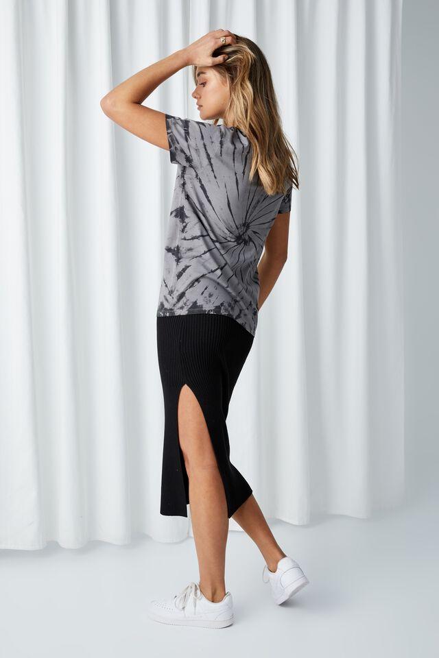 Universe Tie Dye Longline T Shirt, TIE DYE (CEMENT GREY)/YOUR UNIVERSE