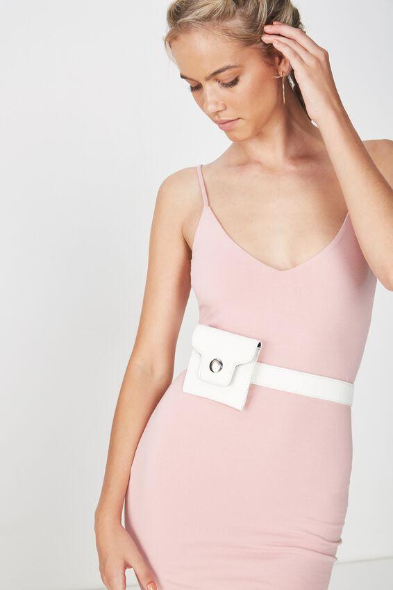 Mini Belt Bag, WHITE