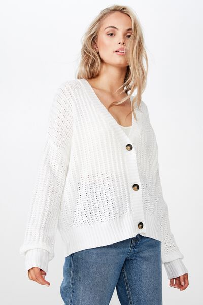 Sammie Light Weight Cardigan, WINTER WHITE