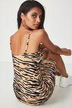 Square Neck Mini Dress, TIGER PRINT