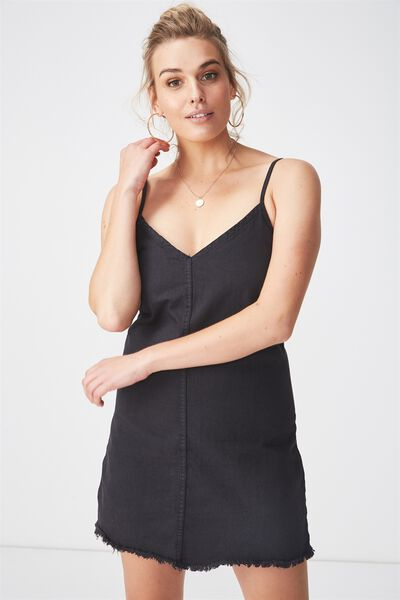 The Falls Denim Dress, BLACK