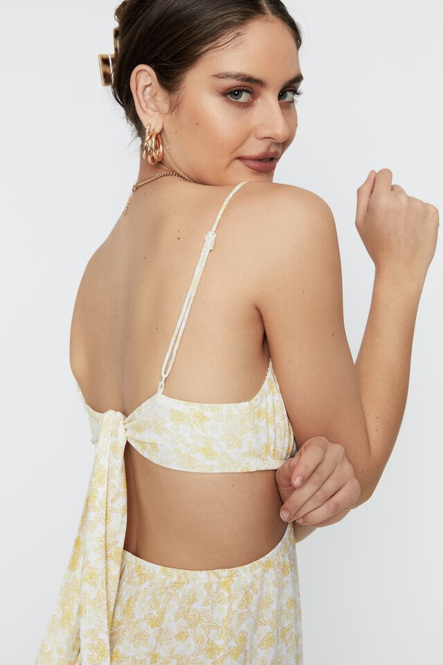 Ariel Tie Back Maxi Dress, KENNEDY FLORAL SUNBURST