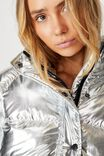 Cosy Puffer Jacket, SILVER METALLIC