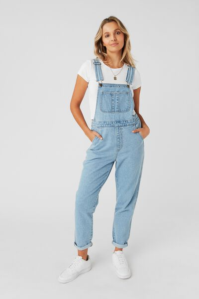 Denim Overall, MID BLUE