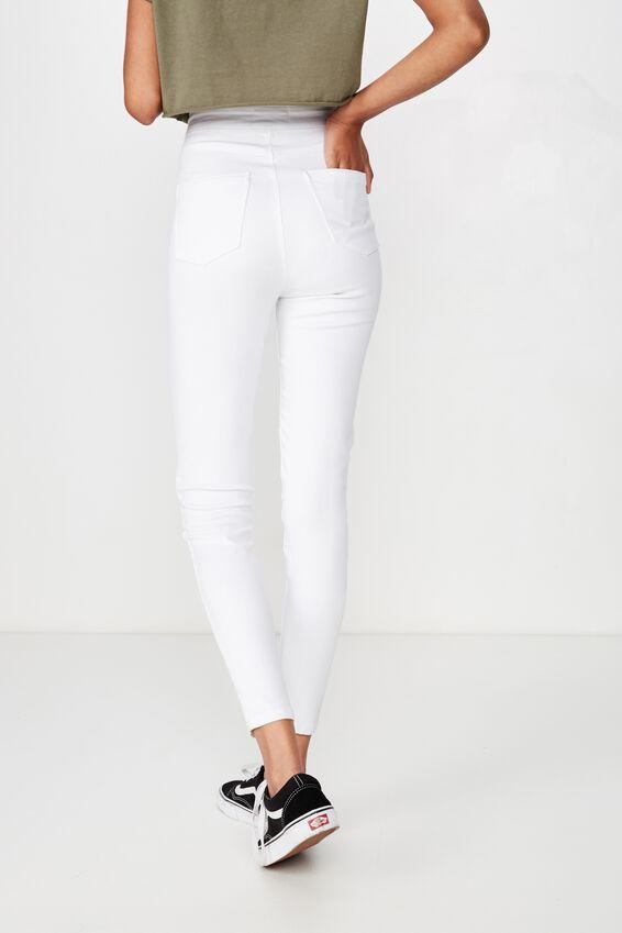 Super Skinny Sky High Jean, WHITE