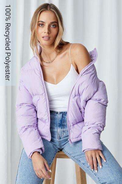Jane Puffer Jacket, FAIRY LILAC