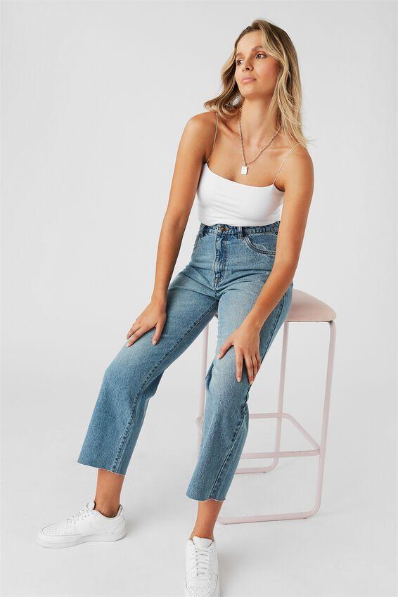 Wide Leg Jean, MIAMI BLUE