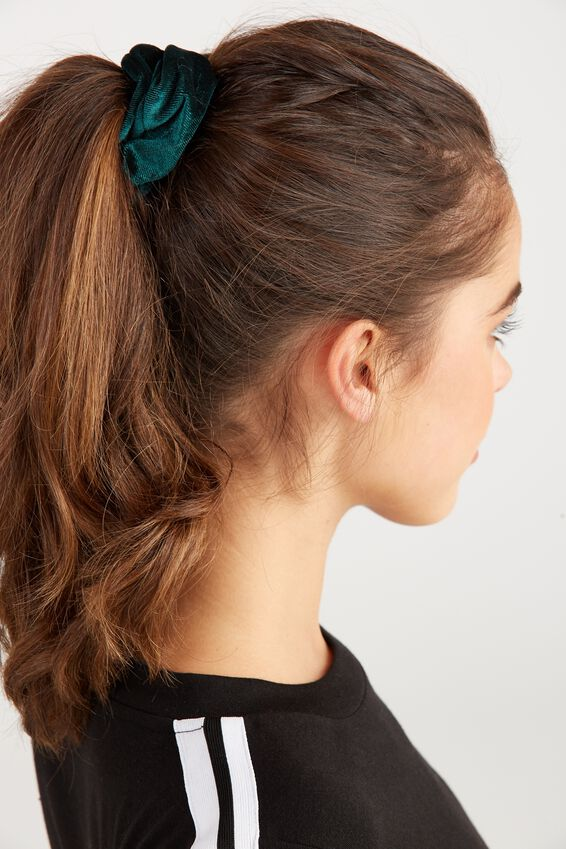 Velvet Scrunchie, PLUSH TEAL