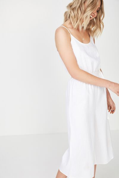 Strappy Jumpsuit, WHITE