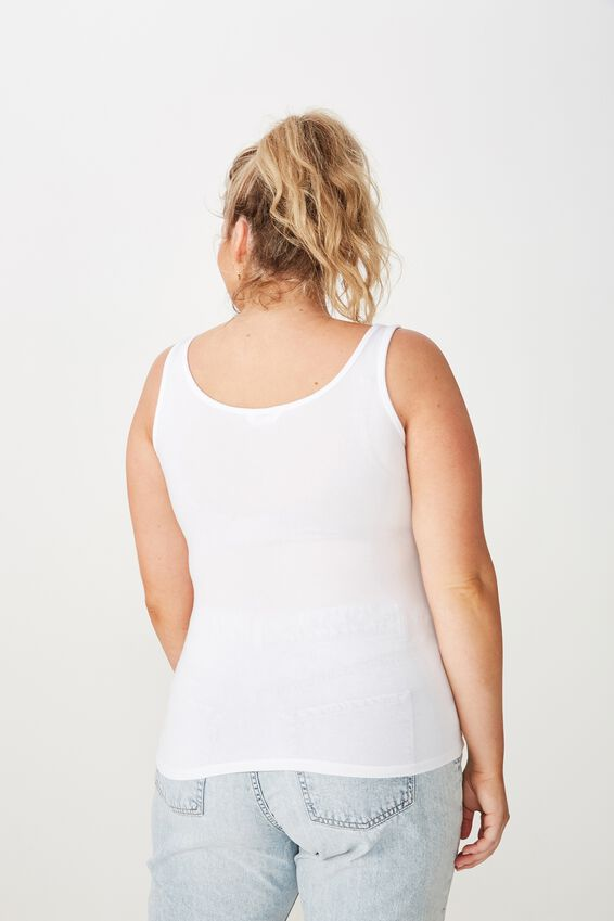 Basic Thick Strap Tank, WHITE
