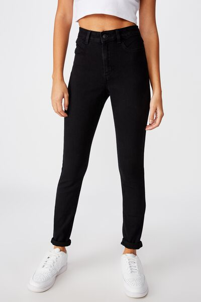 Long Super Skinny Jean, BLACK