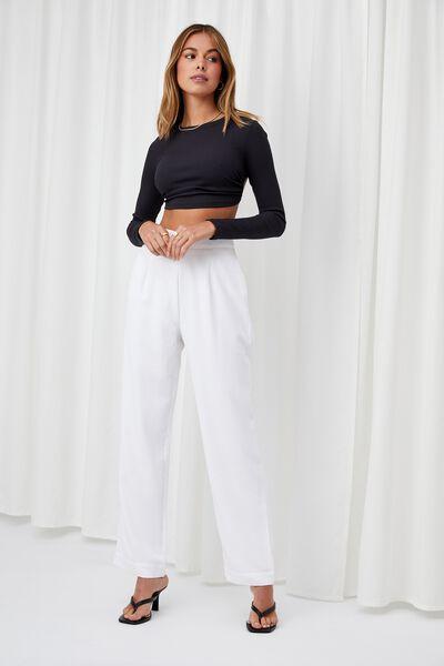Amy Straight Leg Pant, WHITE