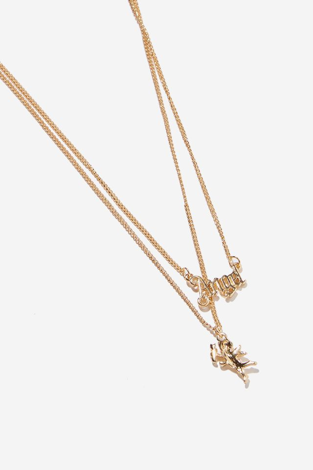 Angel Layer Necklace, GOLD