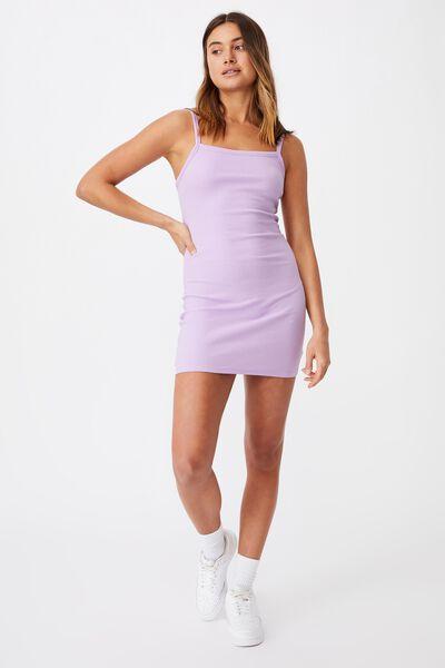 Emery Rib Mini Dress, ORCHID BLOOM