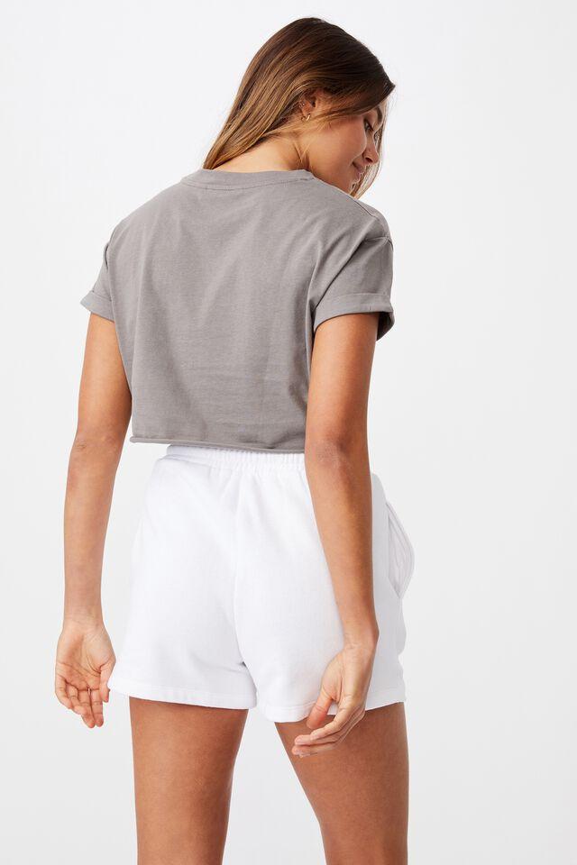 Tamara Printed Crop T Shirt, CEMENT GREY/WAIKIKI BEACH
