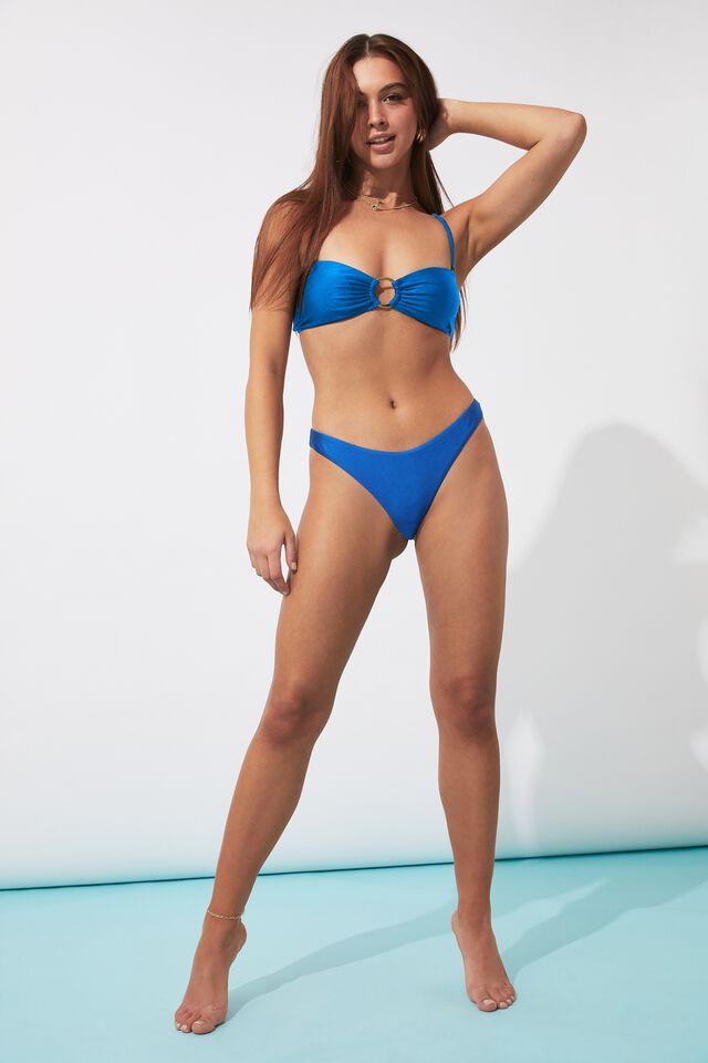 Charli Deep V Bikini Bottom, MYKONOS BLUE