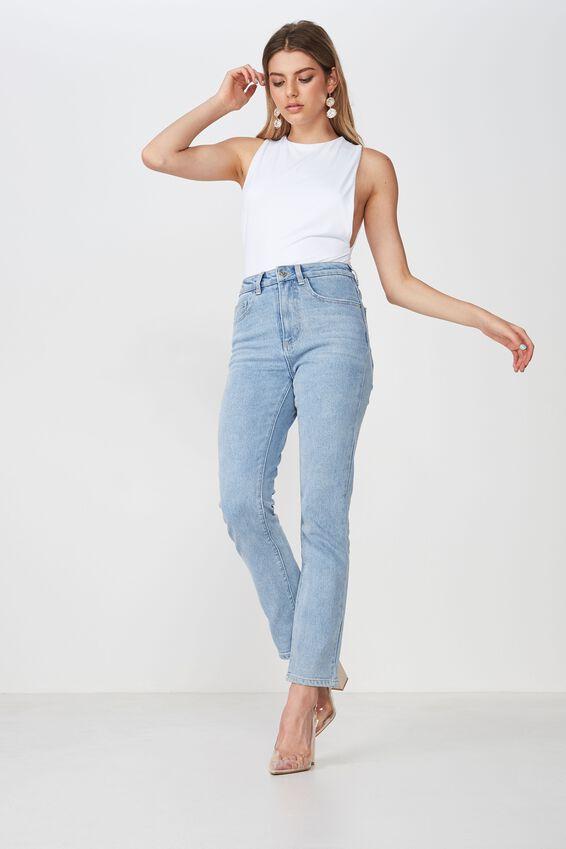 The Straight Jean, LIGHT BLUE WASH
