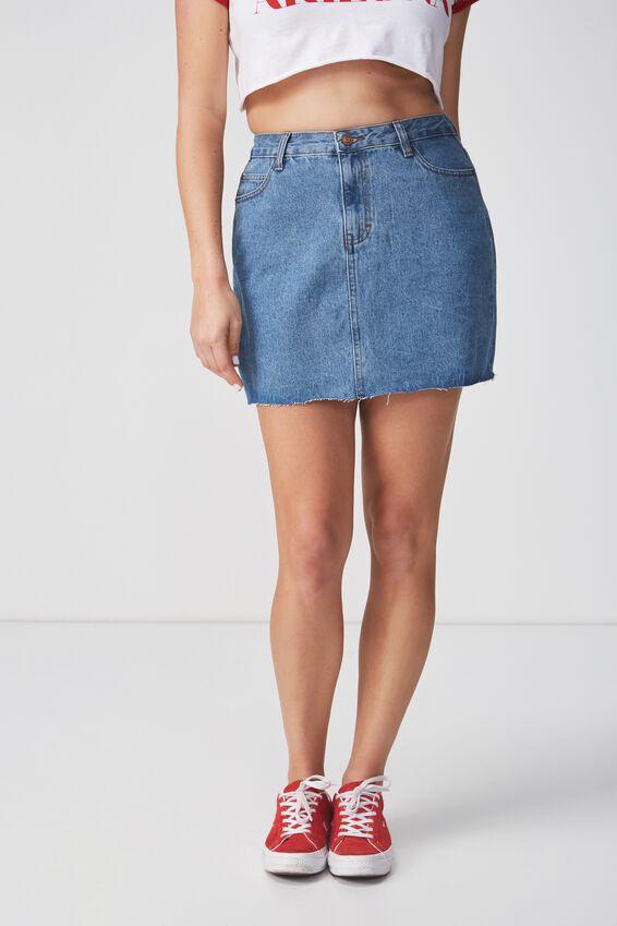 The Blair Aline Denim Skirt, ORIGINAL BLUE