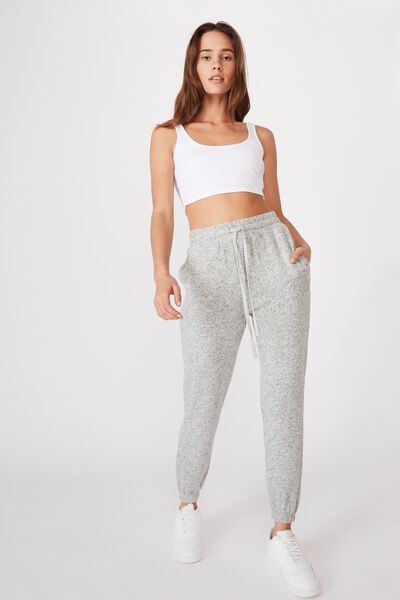 Liberty Lounge Sweat Pant, GREY MARLE/WHITE FLECK