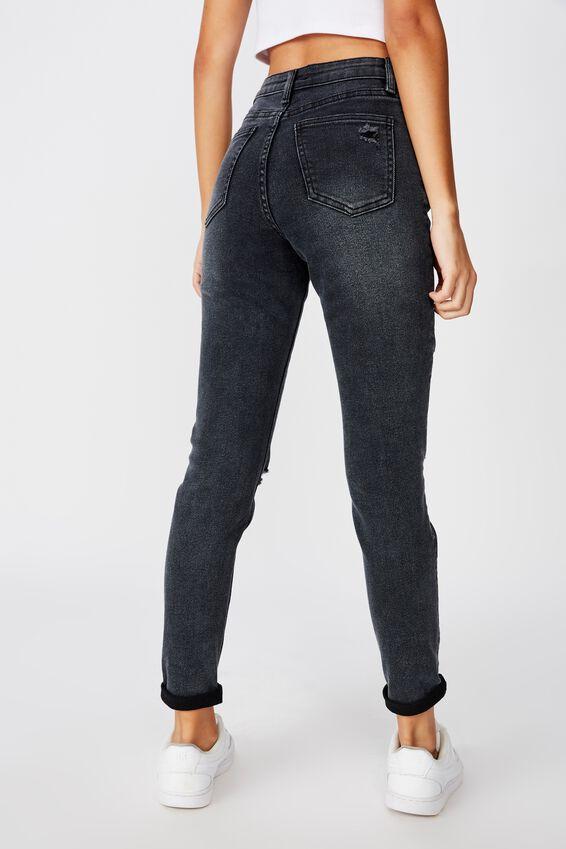 Skinny Premium Mid Rise Jean, MIDNIGHT BLACK