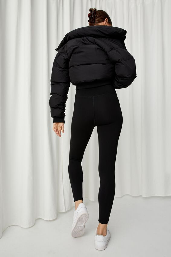 Luxe High Waist Legging, BLACK
