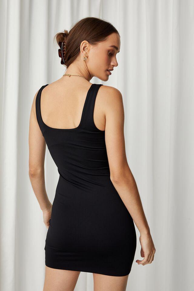 Chrissy Cut Out Mini Dress, BLACK