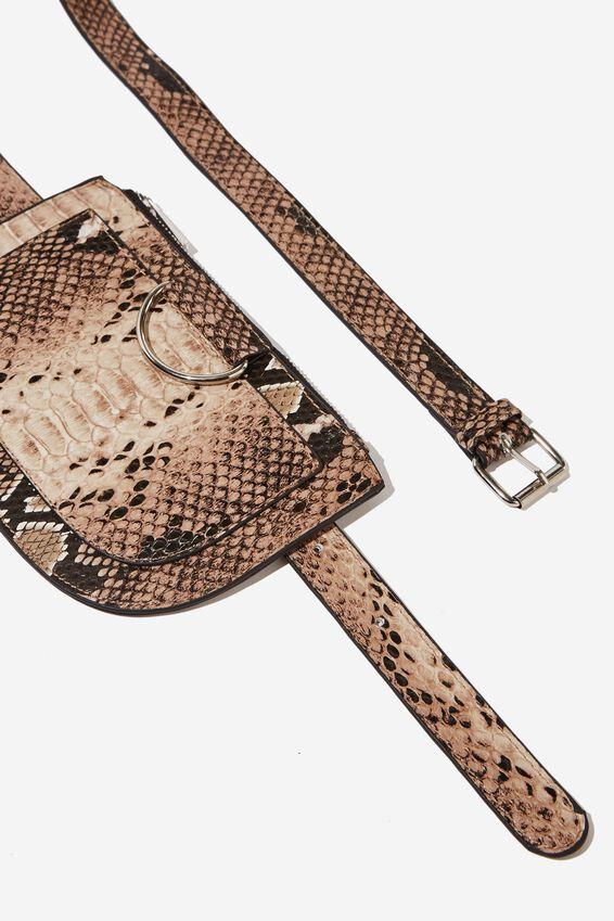 Ring Belt Bag, SNAKE