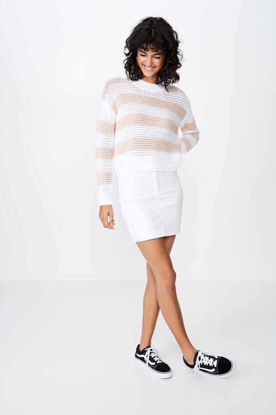 Spencer Chunky Knit, LIVIA STRIPE (DIVINE PINK/WINTER WHITE STRIPE)