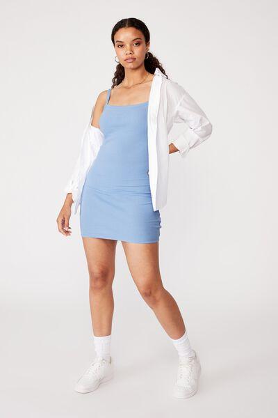 Emery Rib Mini Dress, BONNIE BLUE