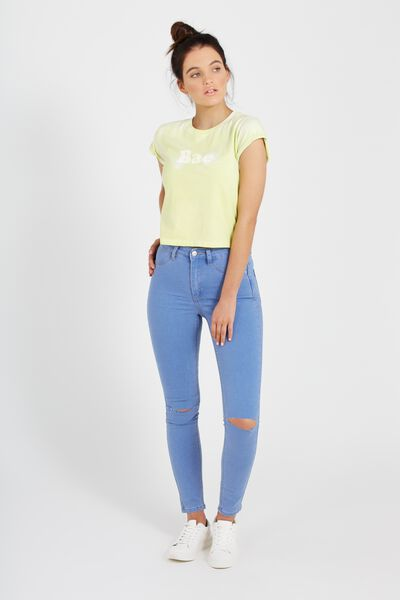 The Skinny Ripped Denim Jean, BLUE RAIN