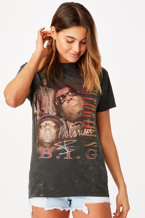 Kendall Printed T Shirt, VINTAGE WASH PHANTOM/LCN MT NOTORIOUS B.I.G. FACE