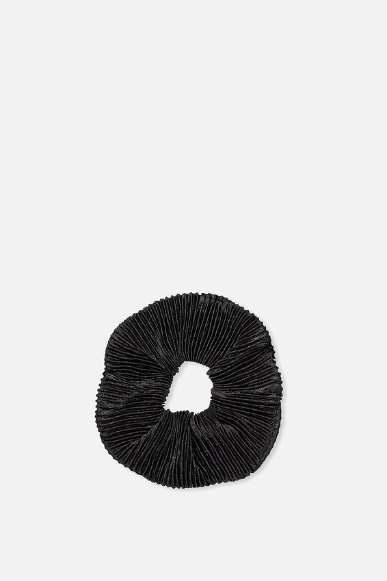 Scrunchie, PLEATED BLACK