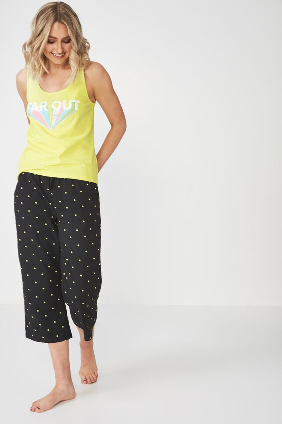Sleep Wear Tank, LIMEADE/FAR OUT